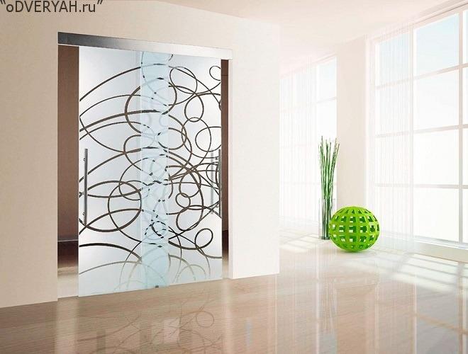 матовое стекло с рисунком