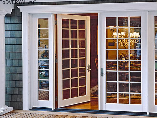 дверь со стеклом