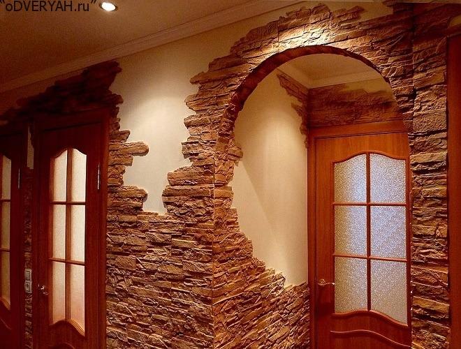 арка украшенная камнем