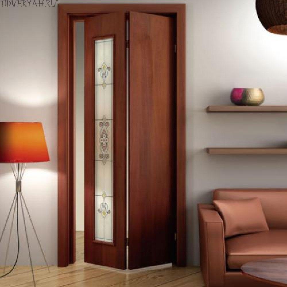 дверь-книжка со стеклом
