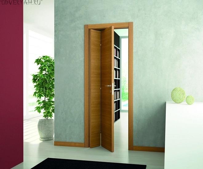дверь-книжка из шпона