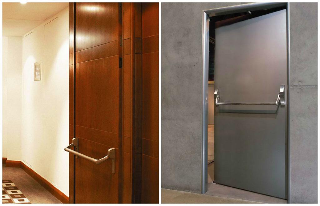 дверь с системой антипаника