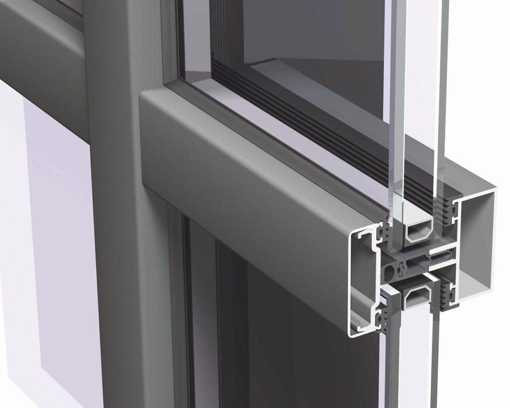 дверь стеклянная в разрезе