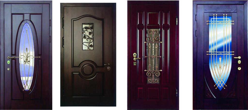 Советы по выбору входных металлических дверей с ковкой и остеклением, их виды и особенности