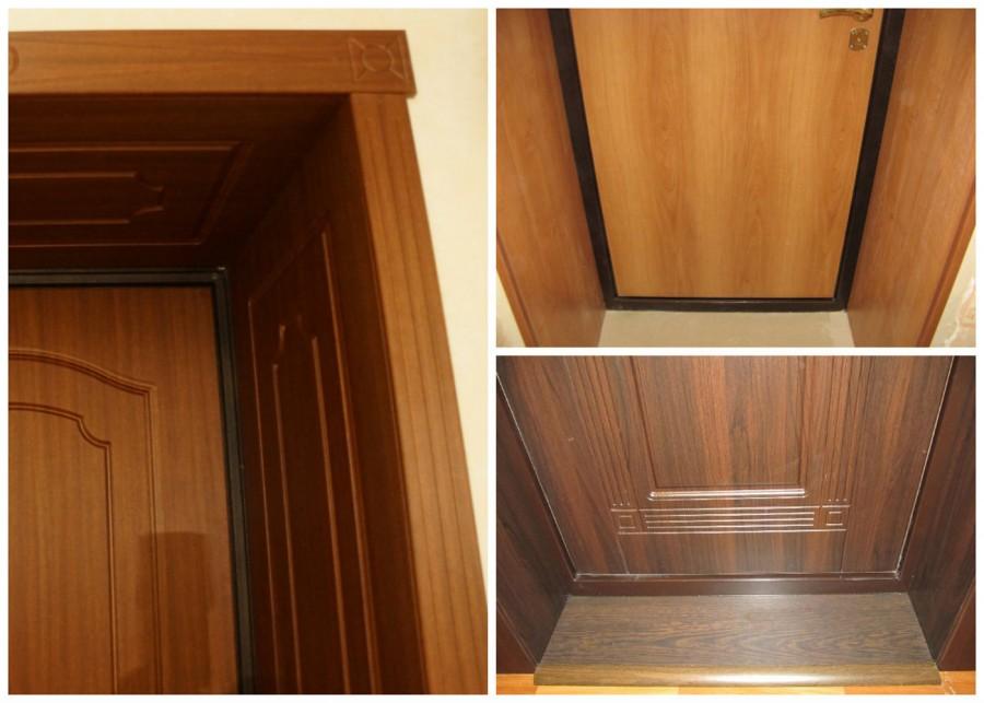 Технология обшивки дверных откосов ламинотом - как сделать отделку входной группы.