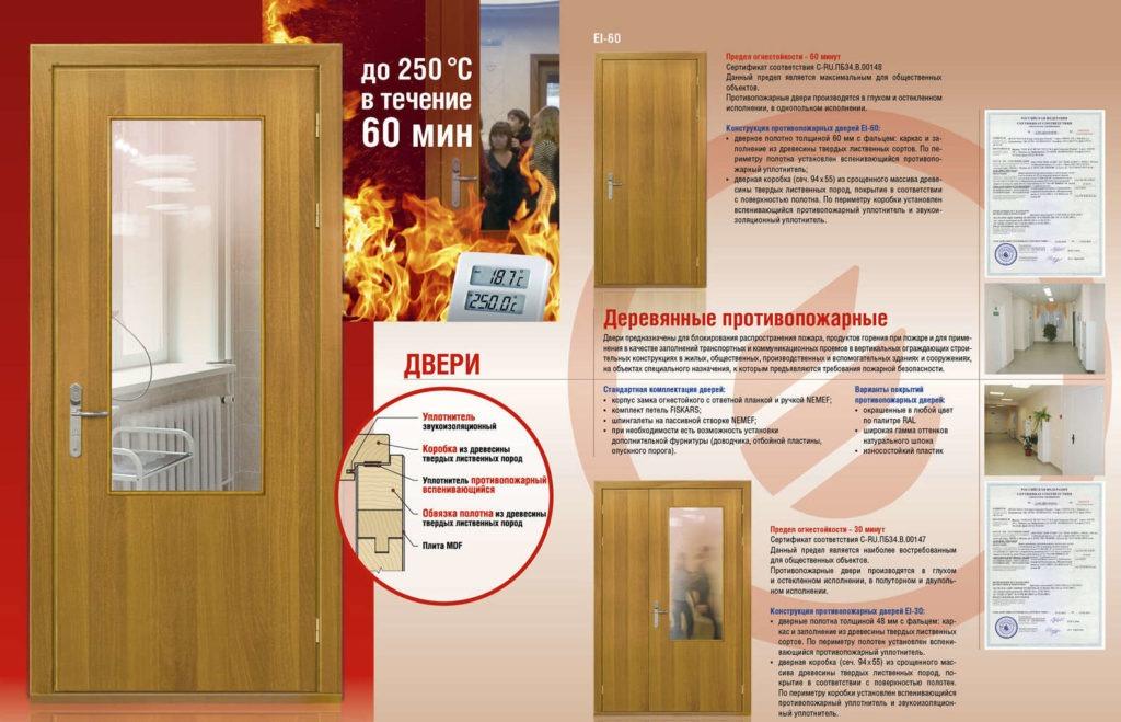 Особенности, виды конструкций противопожарных двупольных дверей, технические характеристики и эксплуатация