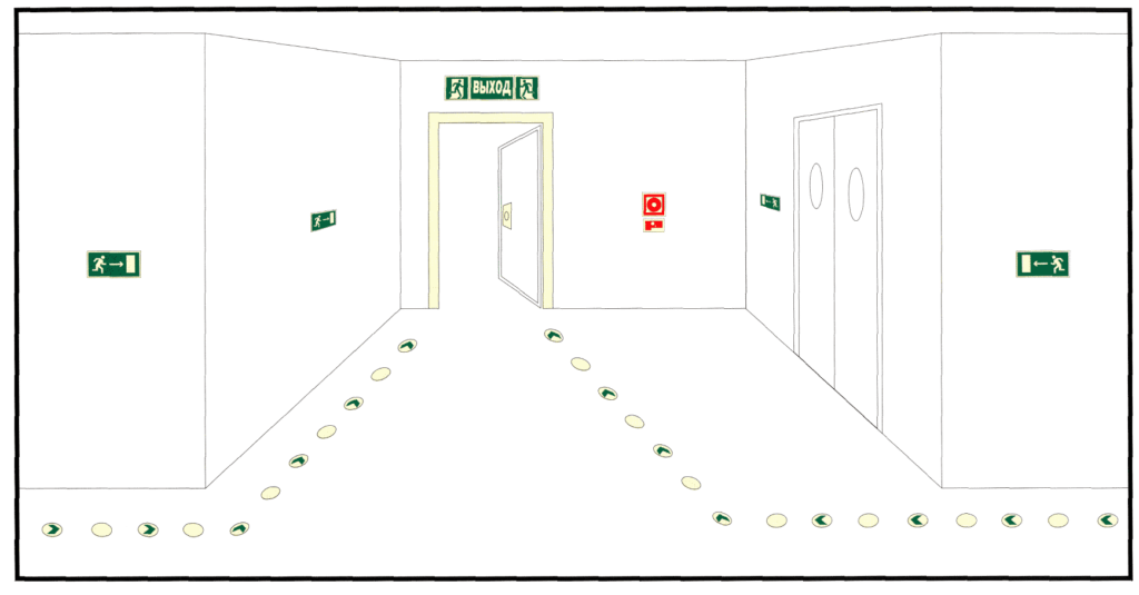 Пожарные нормативы по правильному направлению открывания дверей в различных местах
