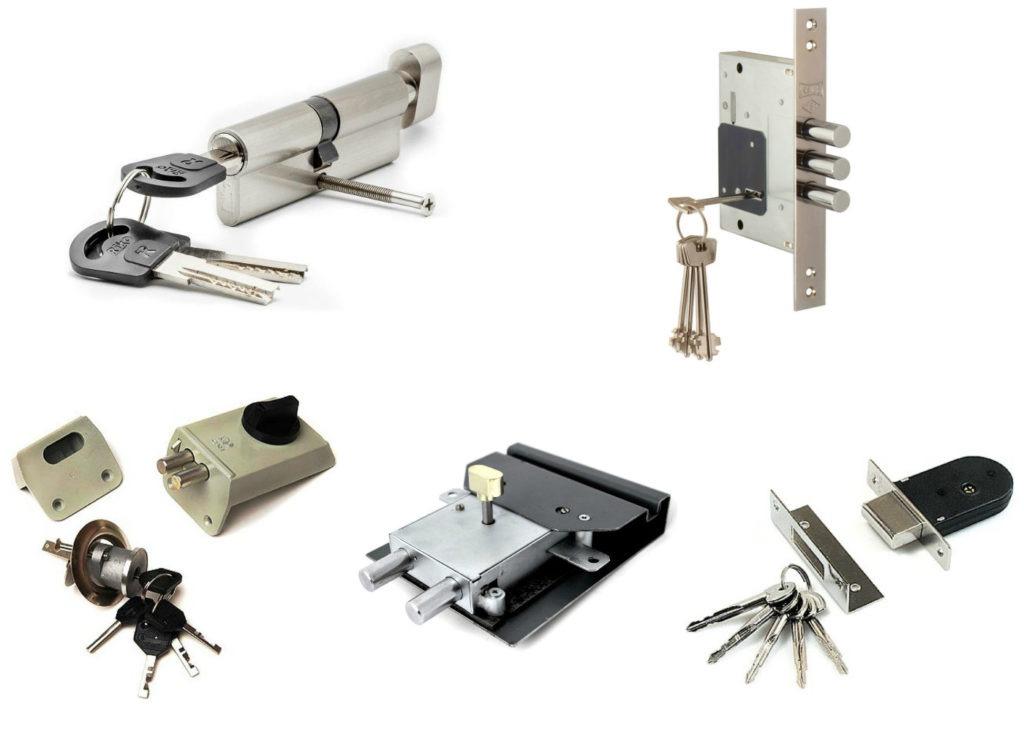 Разновидности накладных замков, уровень надежности таких механизмов для входных дверей