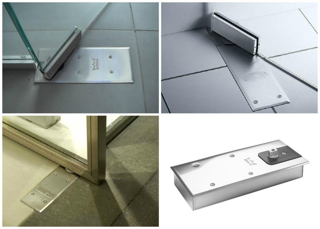 Как для стеклянных дверей подобрать и установить напольный доводчик