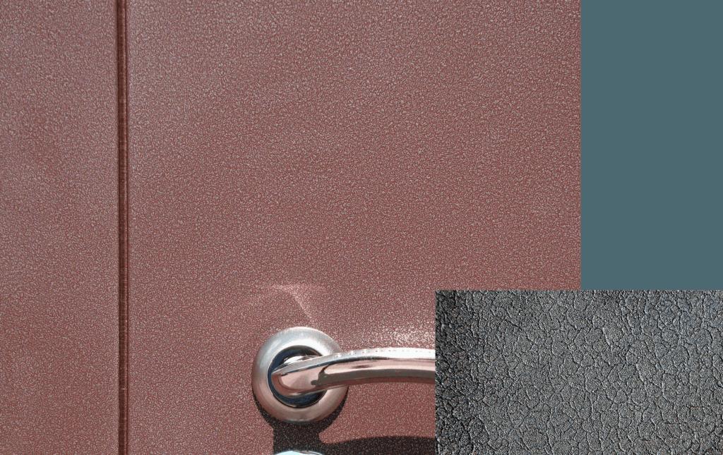 Разновидности красок для металлических полотен, как их наносить на дверь своими руками