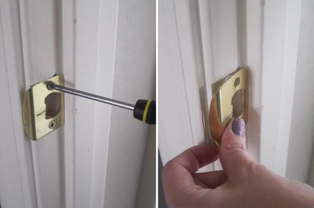 Как самостоятельно установить в межкомнатную дверь защелку - пошаговая инструкция
